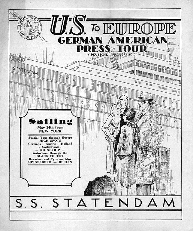 German-American Press Tour Flyer (1930)